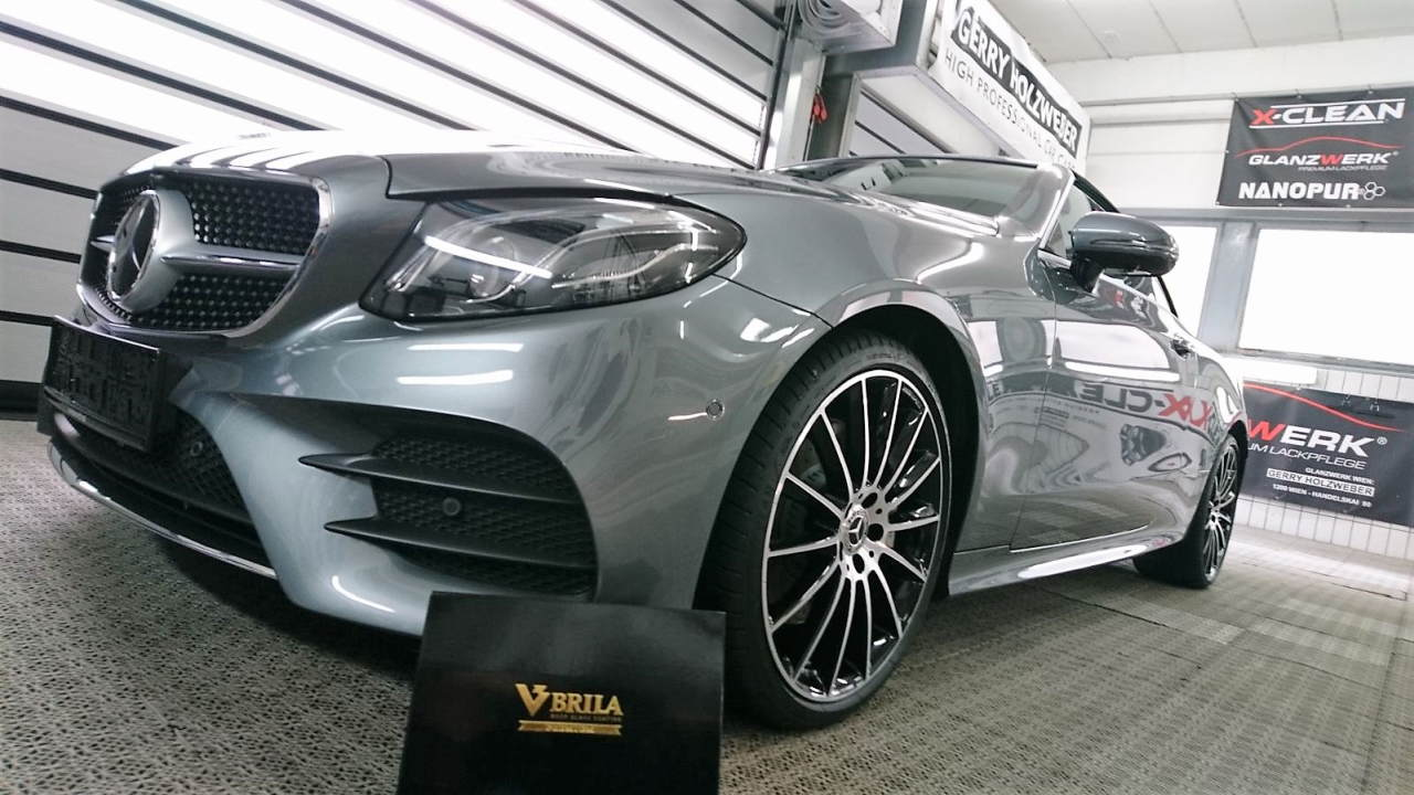 Mercedes S Cabrio AMG veredelet mit Brila Glass Coating.