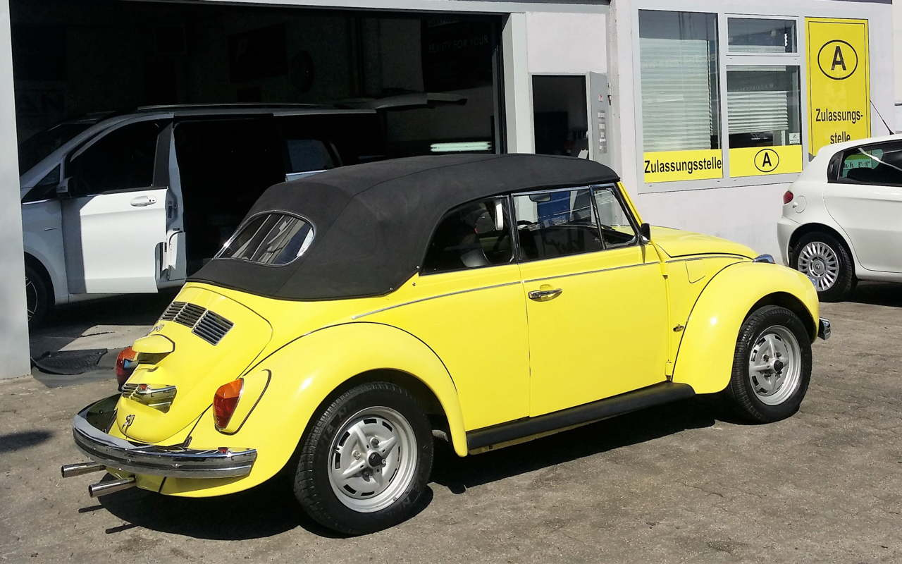 Der Käfer Kult lebt. Ein Karmann Käfer Cabrio.