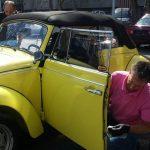 Das Karmann Cabrio wurde mit Swissvax veredelt.