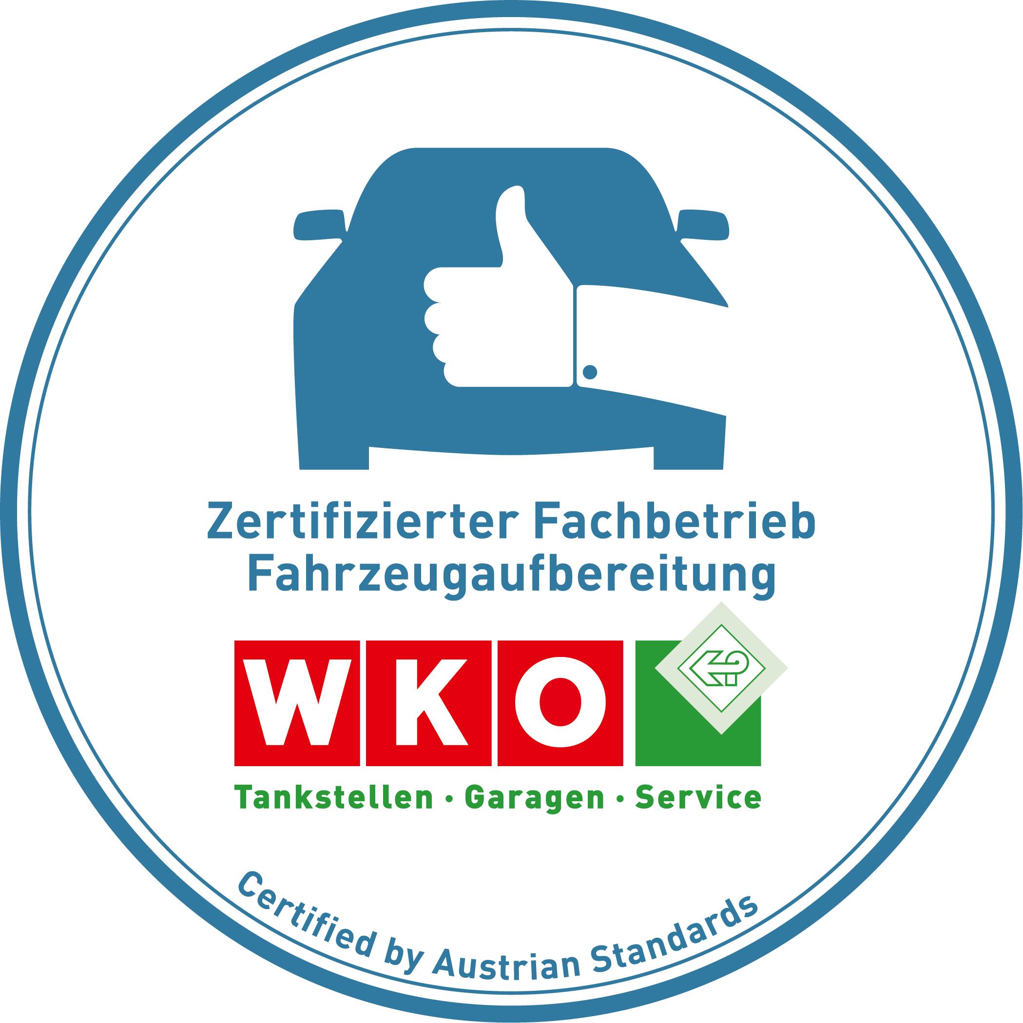 Erster Wiener zertifizierter Fachbetrieb für Fahrzeugaufbereitung.